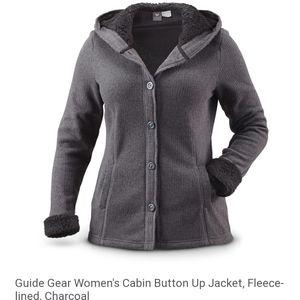 Guide Gear Cabin Button Up Fleece Lined Jacket